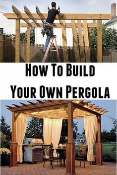 Attached Pergola Kit #pergolado #pergolakitsdiy