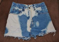 Distressed acid washed ripped jean shorts  great by Forever peace