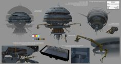 The Honorable Ones Concept Art Gallery   Imperial construction sphere (multiple angles) illustration by Amy Beth Christenson.
