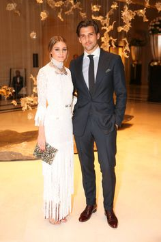 Olivia Palermo and Johannes Huebl on the Paris Fashion Week party scene last night. See who else celebrated here: