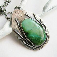 Bleu vert collier Turquoise Art Jewelry bijoux en par Mocahete