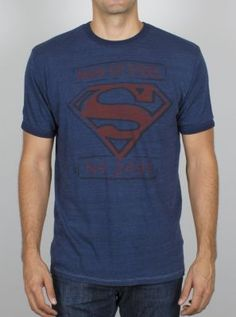 Superman Man of Steel Overdyed Triblend Ringer - Men's Collections - Superheroes - All - Junk Food Clothing