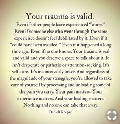 Trauma you deserve to heal