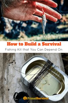How to Build a Survival Fishing Kit that You Can Depend On. We show you how to make one for your Bug Out Bag for when shtf. #primalsurvivor #survivalkit #fishing #bugoutbag #DIY #howtobuild