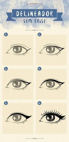 9 infográficos para você se tornar uma expert em maquiagem It is not always easy to draw a perfect eyeliner or collar false eyelashes. If you have ever had any of these difficulties, this is for you! Beauty Make-up, Make Beauty, Beauty Hacks, Professionelles Make Up, How To Make Hair, Makeup Tips, Hair Makeup, Make Up Videos, Simple Makeup