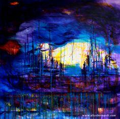 """Light in the Storm"" acrilico su tela 100x100cm www.alicebernardi.com"