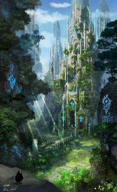 Cathedral of the cliff, ain choi on ArtStation at … – Kathedrale der Klippe, ain choi auf. Fantasy Artwork, Fantasy Art Landscapes, Fantasy Concept Art, Fantasy Landscape, Landscape Art, Fantasy City, Fantasy Castle, Fantasy Places, Fantasy World