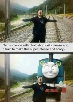 Thomas the evil train www.gritgrubgrind.com