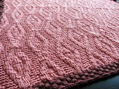 Free+Knitting+Pattern+-+Baby+Blankets+&+Afghans:+Diamonds+and+Pearls+Baby+Blanket