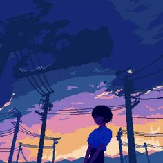 Art drawings colorful life 66 new ideas Aesthetic Gif, Aesthetic Wallpapers, Blue Aesthetic, Animation Pixel, How To Pixel Art, Arte 8 Bits, 8 Bit Art, Japon Illustration, Scenery Wallpaper