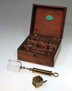 Cupping Set c. 1810 (Sinister name, right?) Bloodletting comprised a mainstay of medical therapy until the mid 19th century. This practice was guided by the belief that health derived from a balance of the four humors in the body (including blood). Healers focused upon restoring the system's equilibrium, usually by draining or purging the system of excess humors.