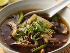 Receta de Sopa de Hongos y Pollo