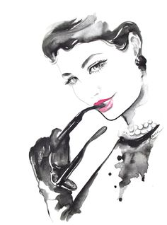Original Watercolor Titled: Fashion Passes, Style Remains - Chanel Illustration Watercolor Painting by Lana. $75.00, via Etsy.