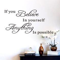Believe in yourself home decor creative quote wall decal decorative adesivo de parede removable vinyl wall sticker Wall Stickers Unicorn, Wall Stickers Tiles, Wall Stickers Quotes, Vinyl Quotes, Wall Decal Sticker, Wall Stickers For Bedrooms, 3d Design, Wall Design, Believe