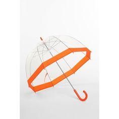 Bubble Umbrella ($18) ❤ liked on Polyvore featuring accessories, umbrellas, umbrella, orange, urban outfitters, bubble umbrella, urban outfitters umbrella, clear plastic umbrellas and orange umbrella