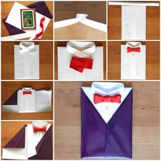 If you want to add a personal touch to the gifts for your friends and family, you can wrap the gifts in a creative way. Here is a super cute idea to make a unique gift wrapping like a suit and tie. Isn't that cool? It can be used for …