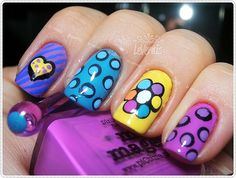 Romero Britto inspired Nail Art