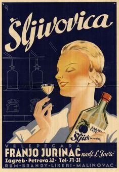 Zagreb - 1930-tih - poster - Šljivovica