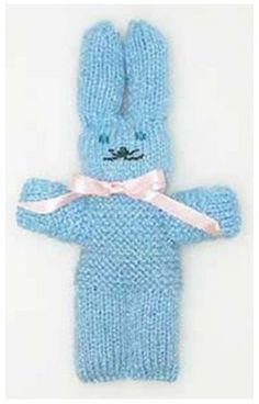 little knit bunny Knitted Doll Patterns, Knitted Dolls, Knitting Patterns, Crochet Home, Crochet For Kids, Loom Knitting, Baby Knitting, Dementia Crafts, Crochet Blanket Tutorial
