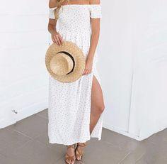 Deja Polka Dot Maxi Dress