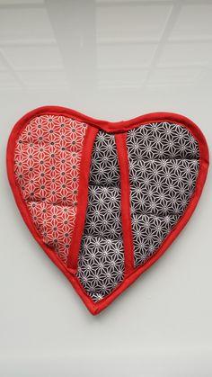 7.Manique cœur -essai 1er : pose du biais en 1 seule étape-