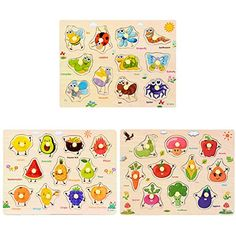 Pets Set 6 Pack Forart Wooden Puzzles for Toddlers Baby Puzzles Age 3+ Toddlers Puzzles for Kids Boys and Girls
