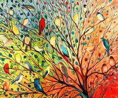 Tavaszi madárcsicsergés a festővásznon