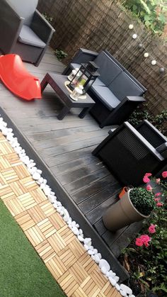 Mon jardinet... Style At Home, Girl House, My House, Dream Home Design, House Design, Outside Patio, Modern Architecture House, Home And Deco, House Goals