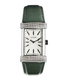 JOOP - Smaragdgrüne Lederband Uhr