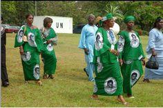 Liberian President Ellen Johnson Sirleaf fabric - 2007