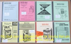 A selection of Rock-Ola Service Manuals that we stock at www.jukeboxparts.co.uk