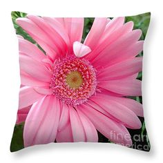 "The Friendly Petal Wave 14"" x 14"" Throw Pillow by Sue Melvin.  Our throw pillows are made from 100% cotton fabric and add a stylish statement to any room.  Pillows are available in sizes from 14"" x 14"" up to 26"" x 26"".  Each pillow is printed on both sides (same image) and includes a concealed zipper and removable insert (if selected) for easy cleaning."
