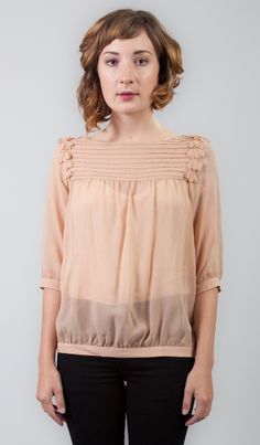 Line & Dot Dusty Rose Blouse from Fancy French Cologne. $64.00