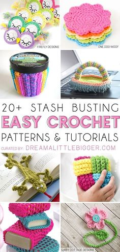 Stash Busting Crochet Projects 2019 Bust that stash with these fantastic little projects perfect for some stash busting crochet! The post Stash Busting Crochet Projects 2019 appeared first on Yarn ideas. Scrap Yarn Crochet, Crochet Feather, Knitting Yarn, Knitting Ideas, Crochet Craft Fair, Wire Crochet, Crochet Flowers, Crochet Toys, Knitting Patterns
