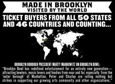 MADE IN BROOKLYN, VISITED BY THE WORLD :: Brooklyn Bowl = Food by Blue Ribbon + 16 lane bowling alley + 600 capacity live music venue :: located in Brooklyn, NY. // Find us on Twitter & Instagram @brooklynbowl - FB: http://bkbwl.com/gVLVzS // #BrooklynBowl - #BowlingAlley - #LiveMusicVenue - #BlueRibbonFood - #LiveMusic - #BrooklynBowlEvents - #BrooklynNightlife - #NYC - #Entertainment - #NewMusic -  #Concerts