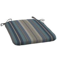 for patio dining chairs?  allen + roth Blue Stripe Seat Pad For Universal