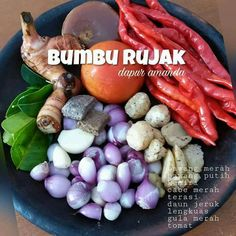 Bumbu Rujak Easy Cooking, Cooking Recipes, Malay Food, B Recipe, Indonesian Cuisine, Indonesian Recipes, Homemade Spices, Homemade Food, Malaysian Food