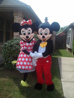 Minnie and Mickey Mouse available for your party or event www.cjspartyfun.com 214-606-7347