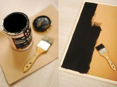 Use chalkboard paint on cork board to make a blackboard you can pin to!  Also, cutting corkboard would be much easier than cutting blackboard!