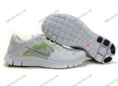 buy online 90ac7 7b15f Nike Free 5.0 V3 Mens sport running shoes White Green sports shoes online  Regular Price