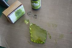 Use alcohol ink to color glass.