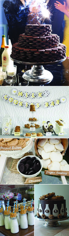 A Cookies and Milk Party Theme; Great ideas that can be used with other themes as well.