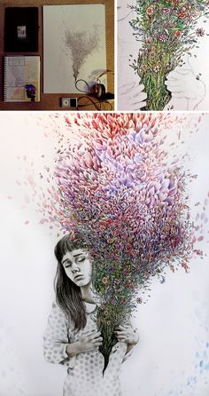 http://www.studentartguide.com/featured/kate-powell-art  this is insane  Kate Powell artist
