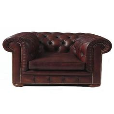 Chesterfield Chair, Dark Brown