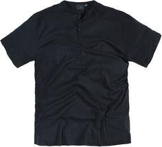 Tee-shirt grande taille allsize Greyes 100 % coton Coloris noir Col rond ras du cou avec trois boutons Tissu agréable sur la peau Type Granddad Toutes les tailles - xxl vous propose ce tee-shirt Noir grande taille pour homme dans les tailles XL au 8 XL