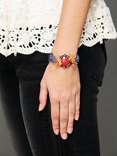 Stone and Silk Bracelet. http://www.freepeople.com/whats-new/stone-and-silk-bracelet/