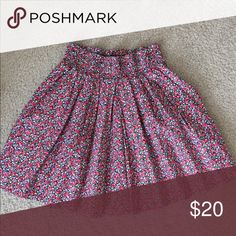 Pink Victoria's Secret flowered skirt Like new PINK flowered skirt with elastic waistband. Size XS PINK Victoria's Secret Skirts