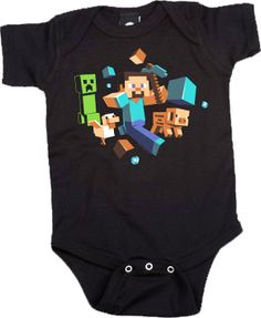 Minecraft - Run Away! Baby Creeper Jumpsuit/Onesie
