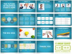 Universal Pitch Deck Eight PowerPoint Template by PitchStock , via Behance