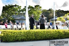 Wedding in the front garden, Anchorage Marina Port Stephens - Ivan Christian Photography http://ivanchristianphotography.com/